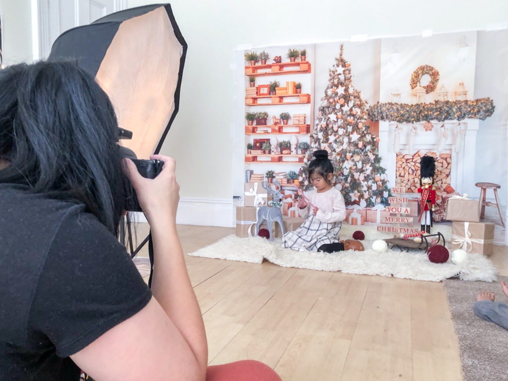 Behind the scenes of christmas photoshoot
